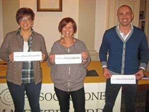I soci Dora, Tonia e Roberto