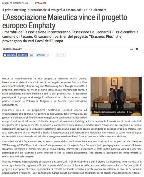 Empathy - il nuovo progetto di Maieutica